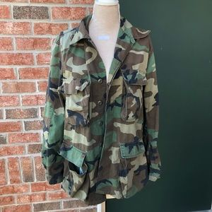 Authentic Military Camo Jacket